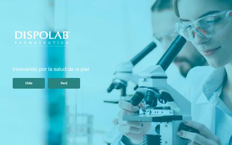 Screenshot of Home Page dispolab.com - DISPOLAB- Innovando por la Salud de la Piel - captured Jan. 3, 2018