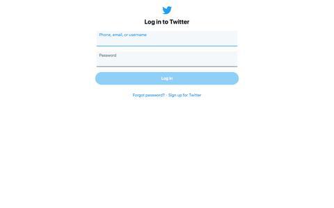Screenshot of Login Page twitter.com - Login on Twitter / Twitter - captured Nov. 10, 2019