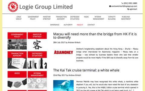 Screenshot of Blog logiegroup.com - Insight - Logie Group Limited - captured Sept. 3, 2017
