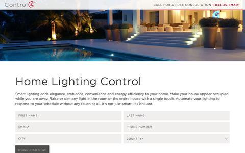 Screenshot of Landing Page control4.com - Lighting   Control4 - captured Oct. 21, 2015