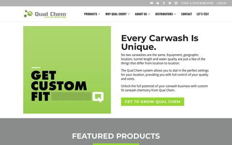 Screenshot of Home Page qualchem.biz - Home - Qual Chem®   Car Wash Chemistry - captured Jan. 20, 2018