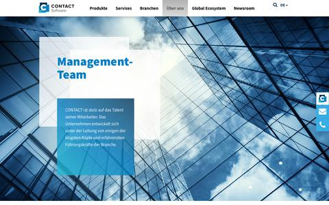 Screenshot of Team Page contact-software.com - Management | CONTACT Software - captured Sept. 25, 2018