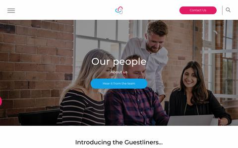 Screenshot of Team Page guestline.com - People At Guestline | Hoteliers Cloud-Based Technology - captured Jan. 17, 2019