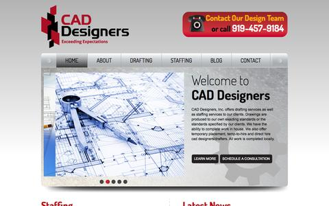 Screenshot of Home Page cad-designers.com - CAD Designers | Drafting Services | CAD Staffing Services| Autocad Drafting | CAD Drafting - captured Oct. 1, 2014