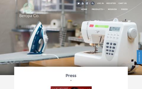 Screenshot of Press Page beropa.co - Press – BEROPA - captured Feb. 7, 2016