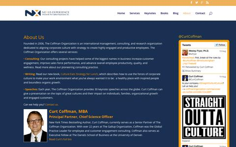 Screenshot of About Page coffmanorganization.com - Top Management Consulting Firms - Employee Engagement - Business Books - captured Aug. 15, 2015