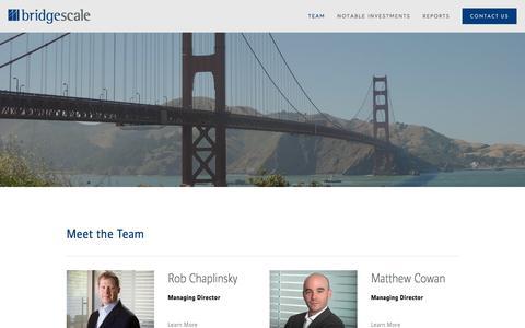 Screenshot of Team Page bridgescale.com - Team — Bridgescale - captured Nov. 23, 2016