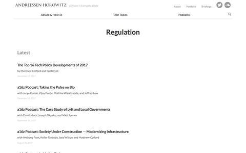 regulation – Andreessen Horowitz