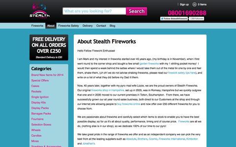 Screenshot of About Page stealthfireworks.com - About Stealth Fireworks | Stealth Fireworks - captured Sept. 30, 2014