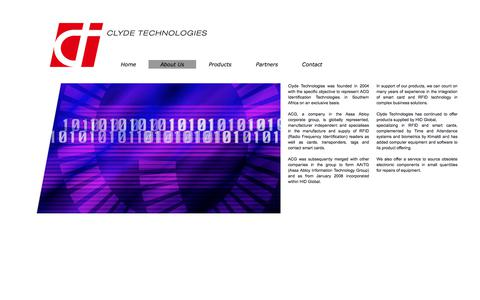 Screenshot of About Page clydetech.co.za - About Us - captured Aug. 6, 2017