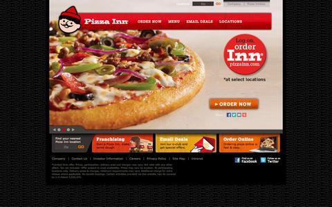 Screenshot of Home Page pizzainn.com - Pizza Inn - Our Buffet, Made Your Way - captured Sept. 19, 2014