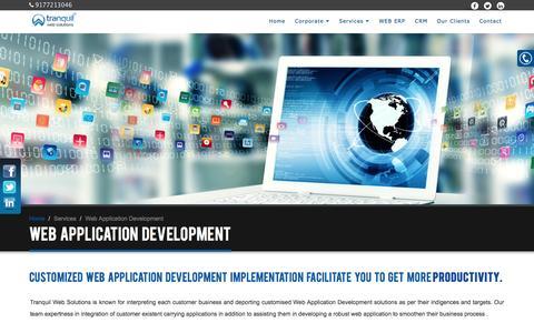 Screenshot of Services Page tranquilwebsolutions.com - Web Design, Web Development Companies Hyderabad, Website Applications, E commerce Software, Website Developers in Hyderabad India. - captured Jan. 24, 2017