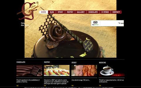 Screenshot of Home Page giamberlano.it - Pasticceria Cioccolateria del Giamberlano - captured Oct. 13, 2015