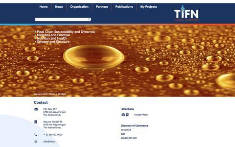 Screenshot of Contact Page tifn.nl - Contact | TiFN - captured Dec. 2, 2016