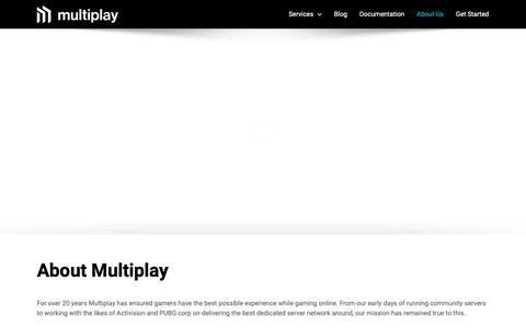 Screenshot of About Page multiplay.com - About Multiplay | Multiplay - captured May 17, 2019