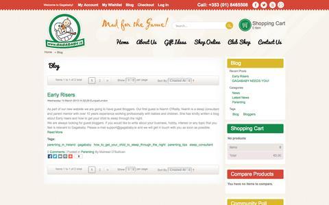 Screenshot of Blog gagababy.ie - Blog - captured Oct. 1, 2014