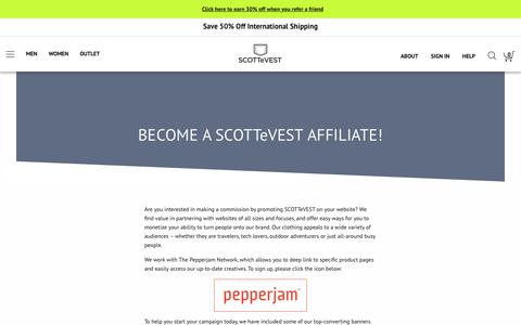 Sell SCOTTeVEST - Become an Affiliate