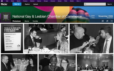 Screenshot of Flickr Page flickr.com - Flickr: National Gay & Lesbian Chamber of Commerce's Photostream - captured Oct. 30, 2014