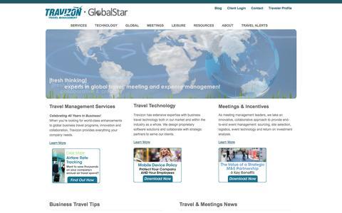 Screenshot of Home Page travizon.com - Travel Company | Business Travel Company - captured Dec. 5, 2015