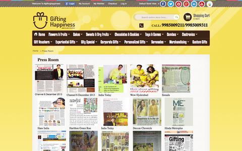 Screenshot of Press Page giftinghappiness.com - Press Room   Gifting Happiness - captured Sept. 30, 2014