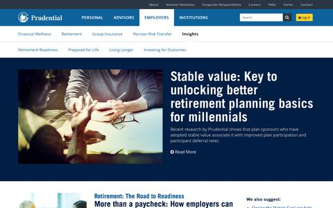 Employer Insights | Prudential Financial