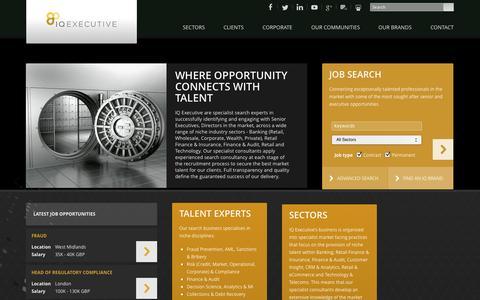 Screenshot of Home Page itqexecutive.com - IQ Executive - captured Oct. 4, 2014
