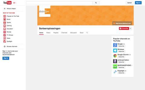 Screenshot of YouTube Page youtube.com - Sorteeroplossingen  - YouTube - captured Oct. 26, 2014