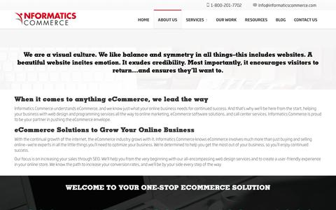 Screenshot of About Page informaticscommerce.com - About Us | Informatics Commerce - captured May 10, 2017