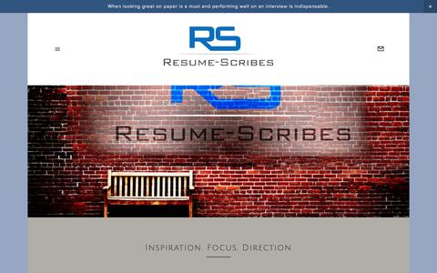 Screenshot of Contact Page resume-scribes.com - Inspiration. Focus. Direction — Resume Scribes - captured Aug. 15, 2015