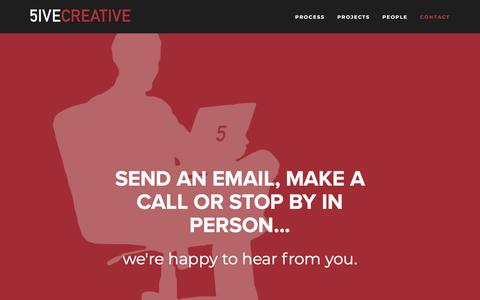 Screenshot of Contact Page 5ivecreative.com - CONTACT — 5ive Creative - captured Sept. 20, 2018