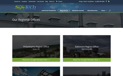 Screenshot of Locations Page systech-design.com - Locations - SysTech Design Inc. - captured Oct. 19, 2018