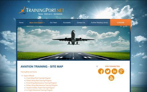 Screenshot of Site Map Page trainingport.net - TrainingPort.net -- Aviation Training - Site Map - captured Oct. 7, 2014