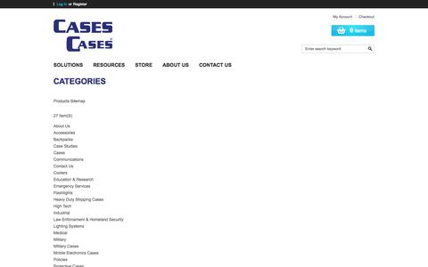 Screenshot of Site Map Page casescases.com - Site Map - captured Oct. 2, 2014