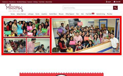 Screenshot of About Page mirraw.com - Artificial Jewellery Online, Buy Fashion, Imitation Jewellery Online India - captured Sept. 12, 2018
