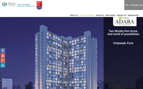 Screenshot of Home Page gera.in - Gera Developments - Real Estate Builders and Developers in Pune, Goa - captured Jan. 11, 2019