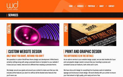 Screenshot of Services Page waylaydesign.com - Las Vegas Website Design Services | WayLay Design - captured Nov. 29, 2016
