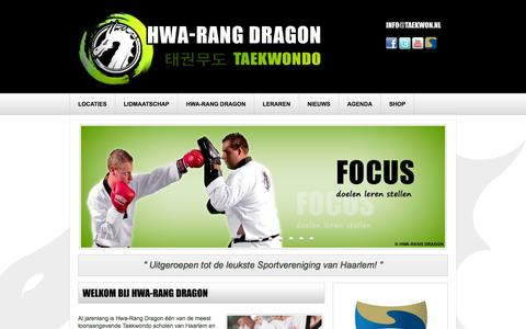 Screenshot of Home Page taekwon.nl - Nieuws | HWA-RANG DRAGON TAEKWONDO - captured Oct. 3, 2014