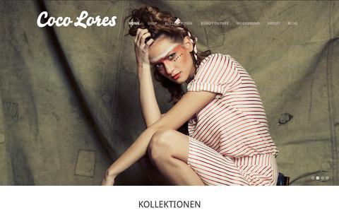 Screenshot of Home Page coco-lores.com - COCO LORES | Fashion für Business Home | COCO LORES | Fashion für Business - captured Nov. 3, 2015