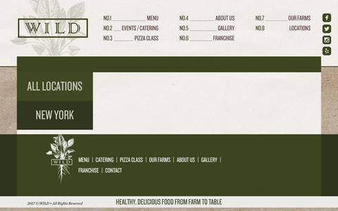 Screenshot of Contact Page Locations Page eatdrinkwild.com - | Locations - captured Feb. 6, 2018
