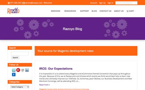 Screenshot of Blog razoyo.com - Razoyo Blog | Razoyo Blog - captured June 12, 2017