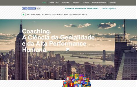 Screenshot of Home Page actcoaching.com.br - Act Coaching® - Escola Superior de Coaching - captured Oct. 4, 2014