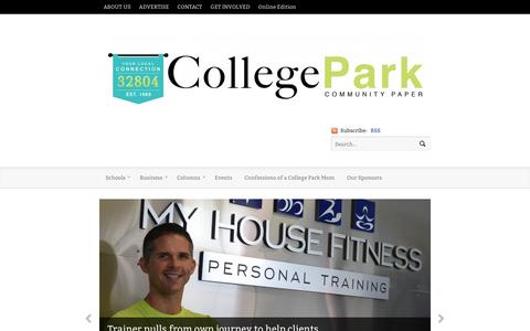 Screenshot of Home Page community-paper.com - College Park Orlando Paper Community - captured Nov. 9, 2016