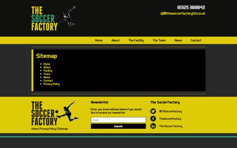 Screenshot of Site Map Page the-soccerfactory.co.uk - The Soccer Factory - Sitemap - captured Sept. 30, 2014