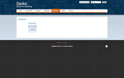 Screenshot of Products Page dasko.co - Welcome to Dasko Commuinications - captured Sept. 30, 2014