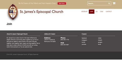 Screenshot of Signup Page doers.org - Join | St. James's Episcopal Church - captured Nov. 16, 2018