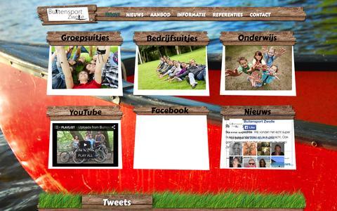 Screenshot of Home Page buitensportzwolle.nl - Buitensport Zwolle - groepsuitjes, bedrijfsuitjes en onderwijs - captured Sept. 30, 2014