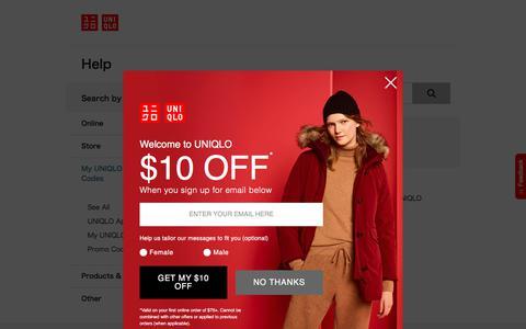Screenshot of Privacy Page Terms Page uniqlo.com - UQ US | UQ US Customer Service - captured Nov. 24, 2019