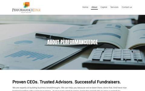 Screenshot of About Page performanceedgepartners.com - Trusted Advisors. Successful Fundraisers - captured Nov. 4, 2018
