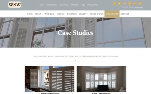 Screenshot of Case Studies Page sashwindows.london - Case studies | Wandsworth Sash Windows - captured Oct. 20, 2018