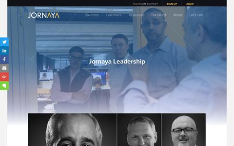 Screenshot of Team Page leadid.com - The Team | Jornaya - captured June 26, 2018